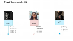 Client Testimonials Teamwork Software Development Proposal Ppt Icon Slides PDF