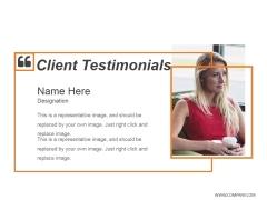 Client Testimonials Template 1 Ppt PowerPoint Presentation Infographics Clipart Images