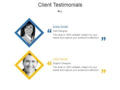 Client Testimonials Template 1 Ppt PowerPoint Presentation Professional