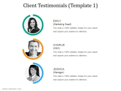 Client Testimonials Template 1 Ppt PowerPoint Presentationmodel Brochure