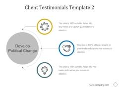 Client Testimonials Template 2 Ppt PowerPoint Presentation Clipart
