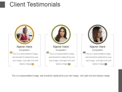 Client Testimonials Template 2 Ppt PowerPoint Presentation Influencers