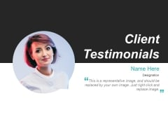Client Testimonials Template 2 Ppt PowerPoint Presentation Outline Information