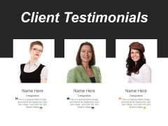 Client Testimonials Template 2 Ppt PowerPoint Presentation Outline Sample