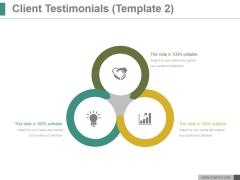 Client Testimonials Template 2 Ppt PowerPoint Presentation Slide Download
