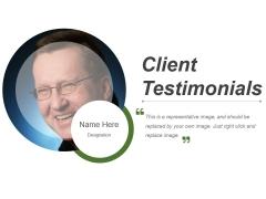 Client Testimonials Template 3 Ppt PowerPoint Presentation File Visuals