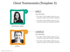 Client Testimonials Template 3 Ppt PowerPoint Presentation Inspiration Good