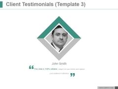 Client Testimonials Template 3 Ppt PowerPoint Presentation Inspiration