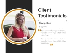 Client Testimonials Template 3 Ppt PowerPoint Presentation Visual Aids Infographic Template