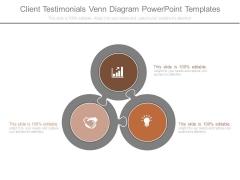 Client Testimonials Venn Diagram Powerpoint Templates