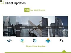 Client Updates Ppt PowerPoint Presentation Gallery Deck