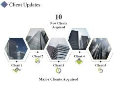 Client Updates Ppt PowerPoint Presentation Icon Microsoft