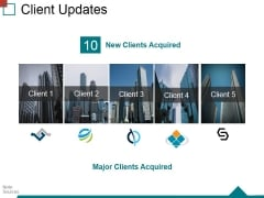 Client Updates Ppt PowerPoint Presentation Ideas Graphics