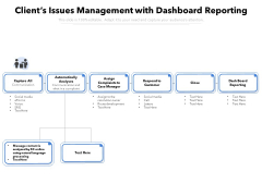 Clients Issues Management With Dashboard Reporting Ppt PowerPoint Presentation File Example PDF