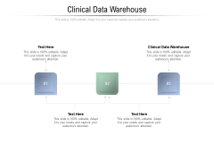 Clinical Data Warehouse Ppt PowerPoint Presentation Portfolio Guide Cpb Pdf