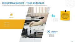 Clinical Development Track And Adjust Ppt Infographic Template Design Ideas PDF