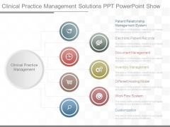 Clinical Practice Management Solutions Ppt Powerpoint Show