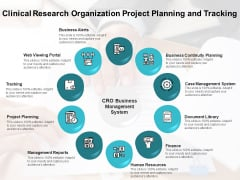 Clinical Research Organization Project Planning And Tracking Ppt PowerPoint Presentation Outline Slides PDF