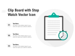 Clip Board With Stop Watch Vector Icon Ppt PowerPoint Presentation Styles Maker