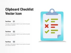 Clipboard Checklist Vector Icon Ppt PowerPoint Presentation Images