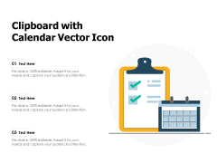 Clipboard With Calendar Vector Icon Ppt PowerPoint Presentation Icon Ideas PDF