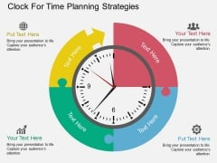 Clock For Time Planning Strategies Powerpoint Template