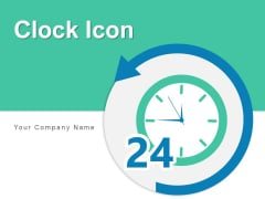 Clock Icon Business Analytics Ppt PowerPoint Presentation Complete Deck