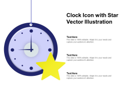 Clock Icon With Star Vector Illustration Ppt PowerPoint Presentation Show Portrait PDF