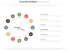 Clock Infographic For Business Process Management Powerpoint Template