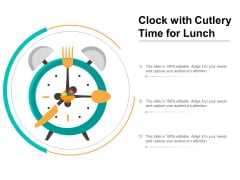 Clock With Cutlery Time For Lunch Ppt PowerPoint Presentation File Images