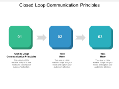 Closed Loop Communication Principles Ppt PowerPoint Presentation Portfolio Pictures Cpb