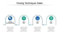 Closing Techniques Sales Ppt PowerPoint Presentation Inspiration Brochure Cpb