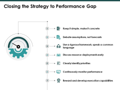 Closing The Strategy To Performance Gap Slide Ppt PowerPoint Presentation Ideas Designs
