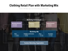 Clothing Retail Plan With Marketing Mix Ppt PowerPoint Presentation Model Icon