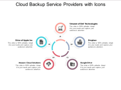 Cloud Backup Service Providers With Icons Ppt Powerpoint Presentation Layouts Graphics