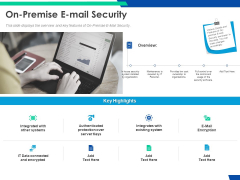 Cloud Based Email Security Market Report On Premise E Mail Security Ppt Ideas Design Inspiration PDF