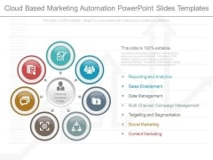 Cloud Based Marketing Automation Powerpoint Slides Templates