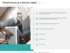Cloud Based Marketing Infrastructure As A Service Iaas Ppt PowerPoint Presentation Layouts Demonstration PDF