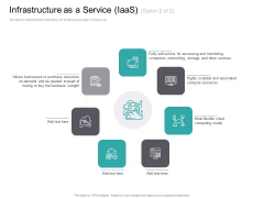 Cloud Based Marketing Infrastructure As A Service Iaas Resources Ppt PowerPoint Presentation Model Example Topics PDF