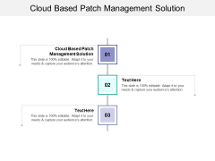 Cloud Based Patch Management Solution Ppt PowerPoint Presentation Infographics Example Cpb