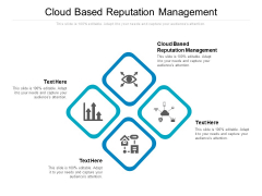 Cloud Based Reputation Management Ppt PowerPoint Presentation Ideas Samples Cpb