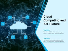 Cloud Computing And Iot Picture Ppt PowerPoint Presentation Model Design Inspiration PDF