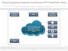 Cloud Computing Enterprise Architecture Ppt Powerpoint Show
