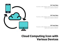 Cloud Computing Icon With Various Devices Ppt PowerPoint Presentation Gallery Slide PDF
