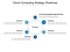 Cloud Computing Strategy Roadmap Ppt PowerPoint Presentation Pictures Guidelines Cpb
