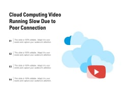 Cloud Computing Video Running Slow Due To Poor Connection Ppt PowerPoint Presentation Infographics Skills PDF