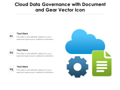 Cloud Data Governance With Document And Gear Vector Icon Ppt PowerPoint Presentation File Images PDF