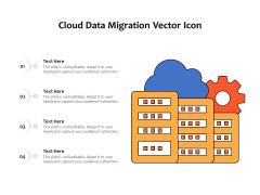 Cloud Data Migration Vector Icon Ppt PowerPoint Presentation File Portfolio PDF