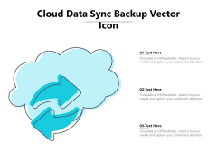 Cloud Data Sync Backup Vector Icon Ppt PowerPoint Presentation Gallery Design Ideas PDF