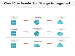 Cloud Data Transfer And Storage Management Ppt PowerPoint Presentation Gallery Icon PDF